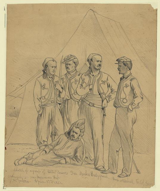 Sketch of a group of Collis' Zouaves--Gen. Banks bodyguard, now attached to Col. Geary command, near Manassas Gap
