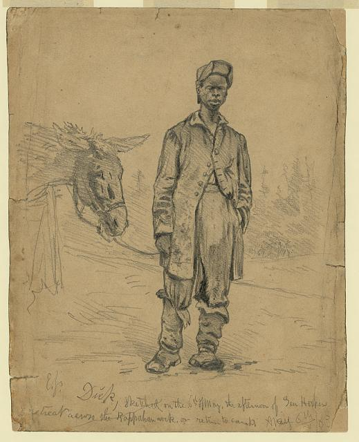Dick, sketched on the 6th of May, on return to camp