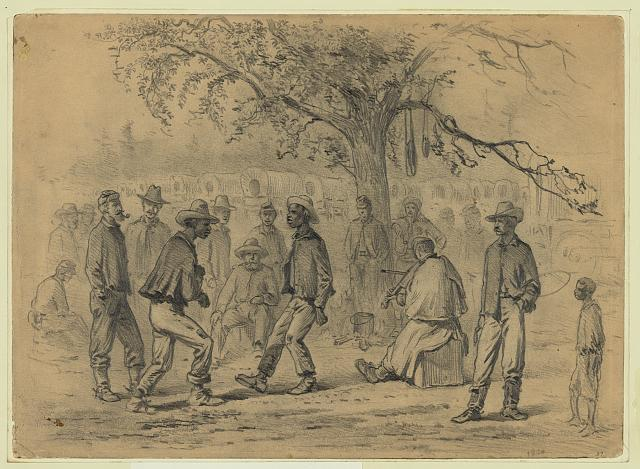A breakdown in the wagoner's camp
