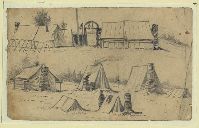 Winter camp of the 16th Michigan
