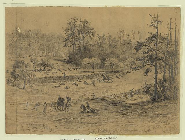 Battlefield of Spotsylvania C.H. May 10th 64