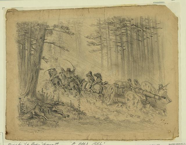 A stormy march--(Artillery)--Spotsylvania Court House