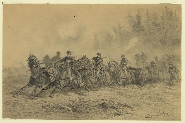 Horse drawn artillery