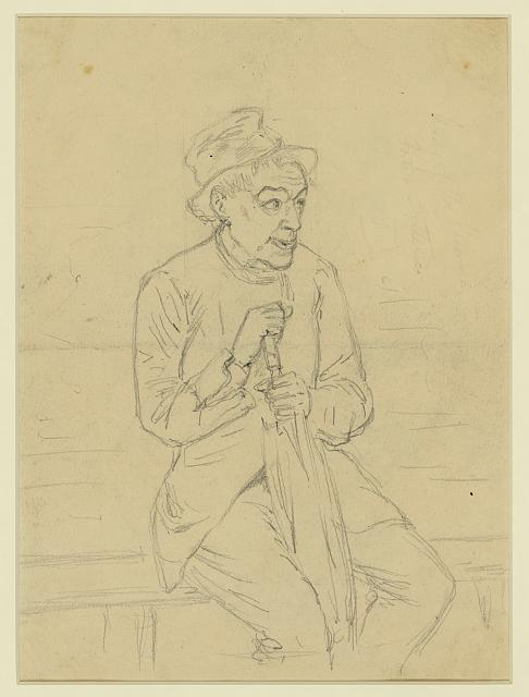 [Sketch of a civilian figure]