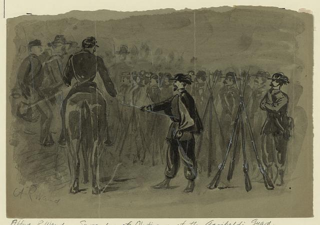 Surrender of the revolting Garibaldi Guards to the U.S. Cavalry