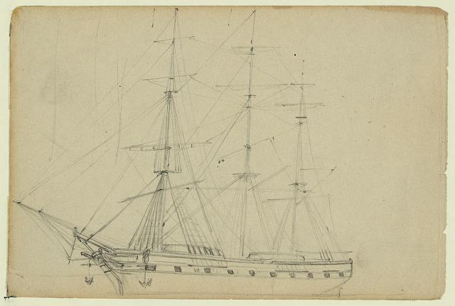 [Sailing ship with three masts]