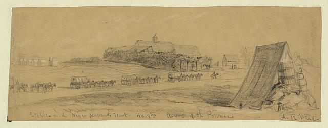 Stables and Negro servants tent, hd.qtrs Army of the Potomac