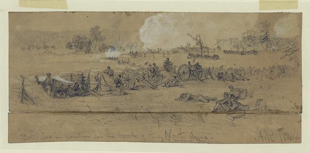 2nd Corps, Batteries in position on the bank of the North Anna. 2nd Maine Battery
