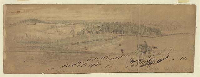 Rebel line in front of Sedgwick--Mine Run 1863