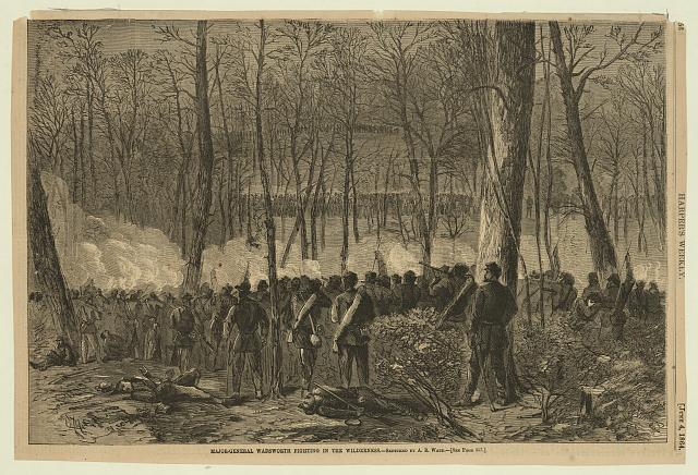 Major-General Wadsworth fighting in the Wilderness