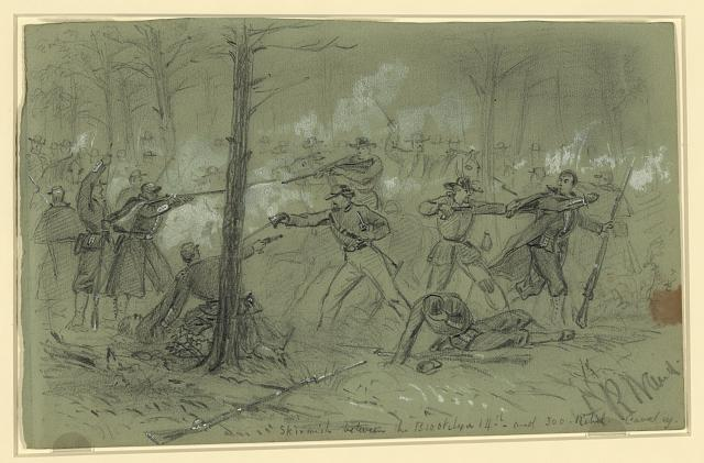 Skirmish between the Brooklyn 14th and 300 Rebel Cavalry [sic]