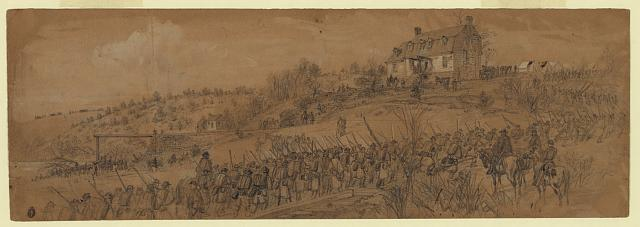 Scene at Germanna Ford--6th Corps returning from Mine Run