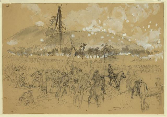 [General Sherman at the Battle of Kennesaw Mountain, Ga.]