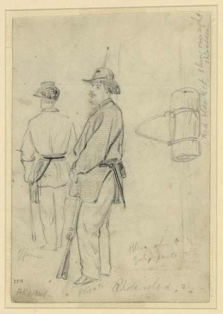 [Officer and private of a Rhode Island regiment]