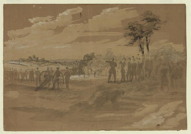 Advance of the Army towards Lewinsville