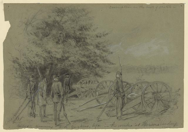 Soldier's dummies and quakers, left in the works at Harrison's landing