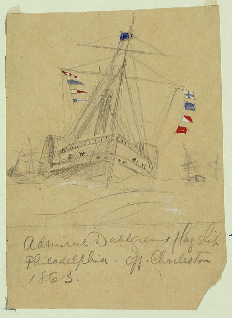 Admiral Dahlgrens flag ship Philadelphia-off. Charleston 1863