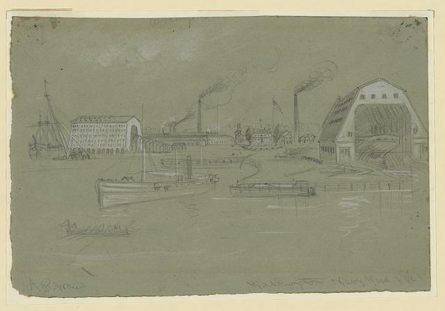 Washington Navy Yard. 1861
