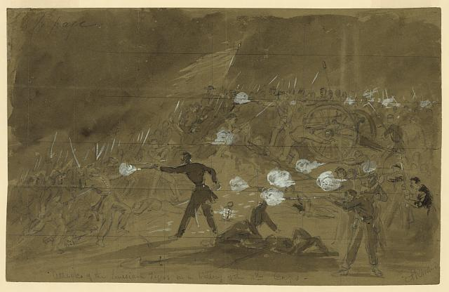 Attack of the Louisiana Tigers on a battery of the 11th Corps
