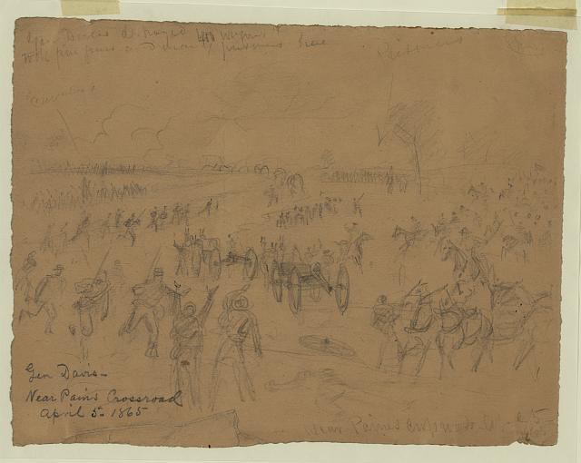 Gen. Davis [sic]-Near Paines Crossroad April 5, 1865