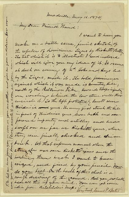 [Letter to Waud from Samuel P. Bates]