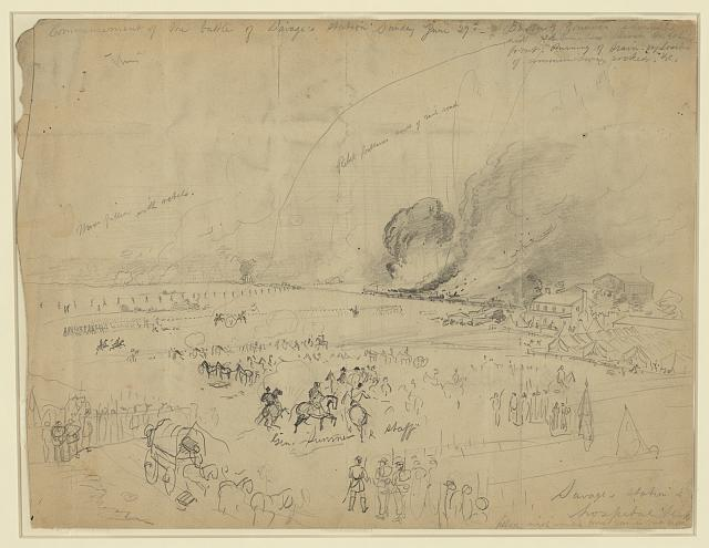 Commencement of the battle of Savage's station, Sunday June 29