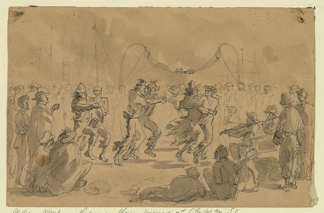 Released Prisoners - The dance upon the deck of the N.Y.