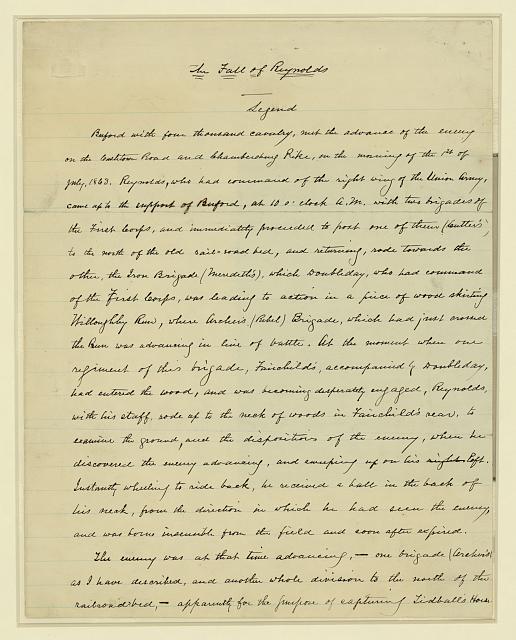 Death of Reynolds--Gettysburg