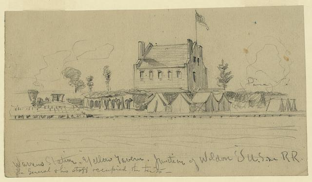 Warrens Station. Yellow Tavern. Junction of Weldon's U.S. R.R.