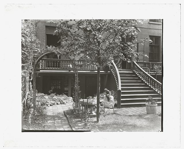 [The Touchstone Garden, 118-120 East 30th Street, New York, New York. Garden stairway]