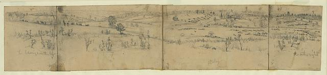 [View of Battle of the Wilderness looking towards the Rapidan River]