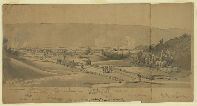 View of Romney, Va. Hampshire County