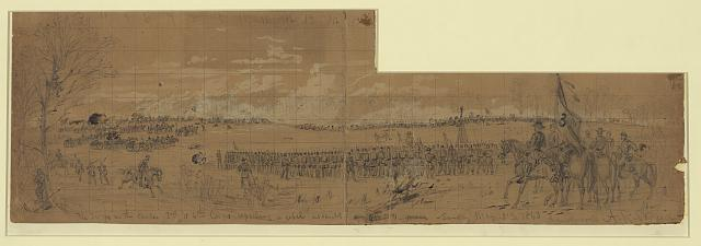 The troops on the center 3rd & 5th Corps repelling a rebel assalt [sic]--Sunday May 3rd 1863