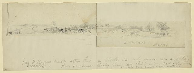 Near fort Hill. 1864
