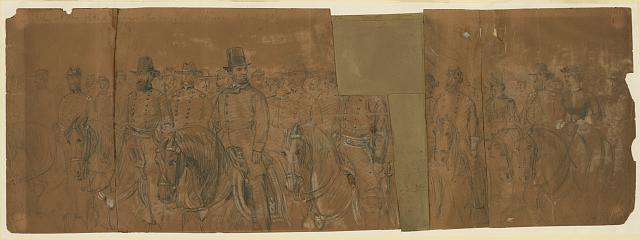 Sketch at the grand review of the Army of the Potomac April 9th