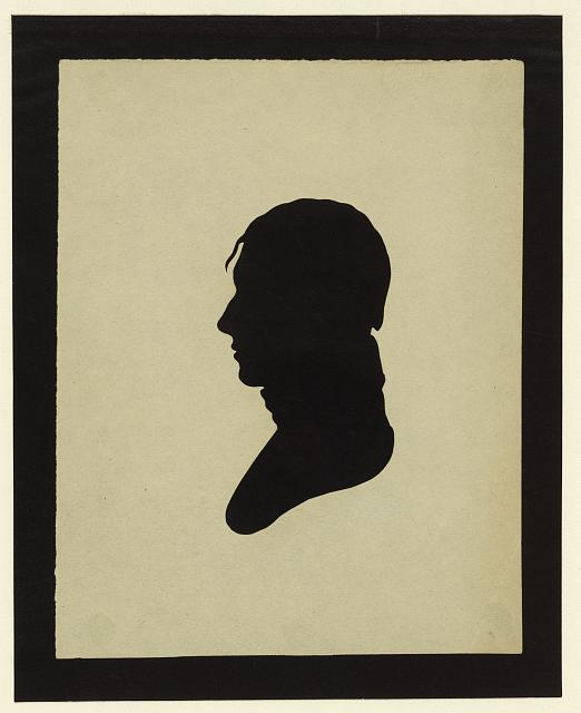[Silhouette of man facing left, no. 4]
