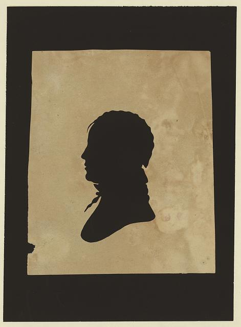 [Silhouette of man facing left, no. 6]
