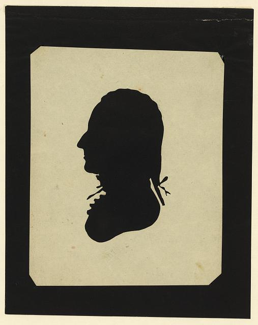 [Silhouette of man facing left, no. 7]