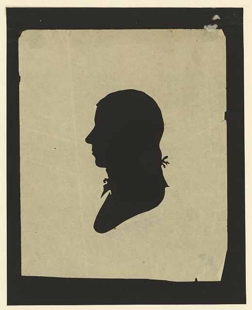 [Silhouette of man facing left, no. 10]