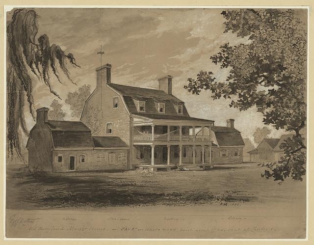 "Old Maryland manor house - ""Java"" on Rhode River built about 1740 seat of Contees"