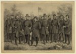 U.S. Army and Cavalry officers in front of the U.S. Capitol Building [Tholey] (between 1861 and 1865)