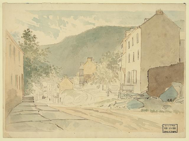 Washington St., Harper's Ferry, W. Virginia, Sat. June 21, 1873 Tm 6 p.m. light fr. left