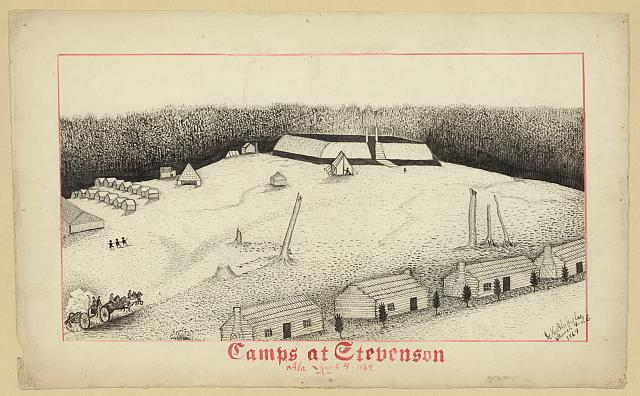 Camps at Stevenson Ala. March 4-1864