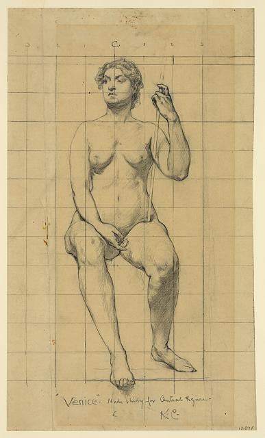 """Venice"" - nude study for central figure"