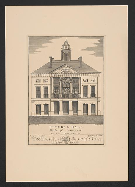 Federal Hall. The seat of Congress