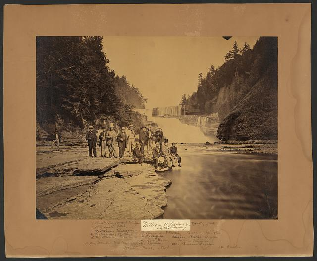 [The Secretary of State and the Diplomatic Corps at Trenton Falls, New York]