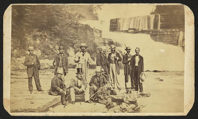 [Secretary of State William Seward and a delegation of diplomats at Trenton Falls, New York]