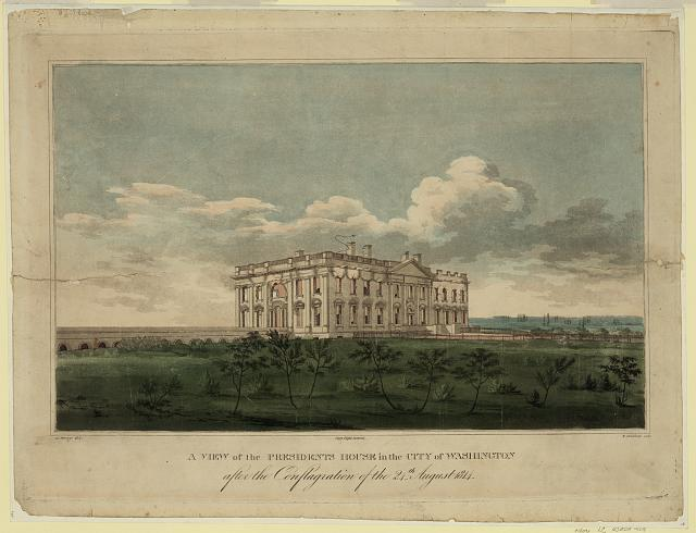 A view of the Presidents house in the city of Washington after the conflagration of the 24th August 1814