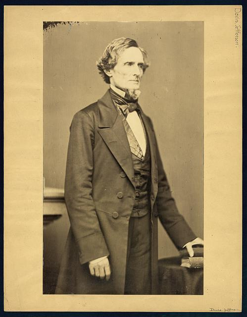 [Jefferson Davis, three-quarter length portrait, facing right]