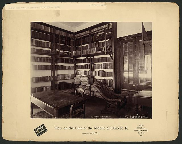 Jefferson Davis' Library, [Beauvoir, Miss.]